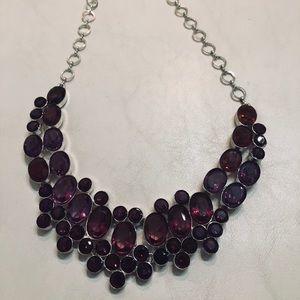 Purple crystals necklace